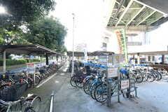 大阪市営地下鉄谷町線・駒川中野駅前の自転車置き場。(2017-10-25,共用部,ENVIRONMENT,1F)
