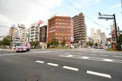 鶴橋駅前の交差点の様子。(2019-01-16,共用部,ENVIRONMENT,1F)