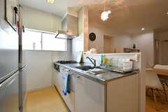 キッチンの様子。(2017-04-04,共用部,KITCHEN,4F)