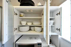 食器棚の様子。(2017-04-04,共用部,KITCHEN,4F)