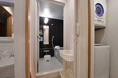 脱衣室の様子。(2016-11-14,共用部,BATH,2F)