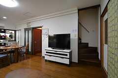 共用TVの様子。(A棟)(2015-11-02,共用部,TV,2F)