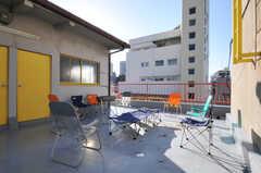 屋上の様子。(2010-11-27,共用部,OTHER,6F)