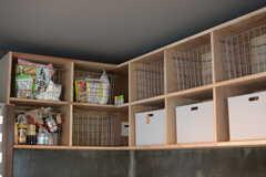 部屋ごとに食材を収納できるボックス。(2017-07-12,共用部,KITCHEN,3F)