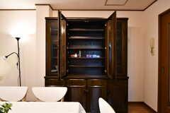 入居者さんが食材を収納できる棚の様子。(2017-11-14,共用部,KITCHEN,2F)