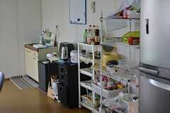 キッチン周辺の様子。(2013-05-21,共用部,KITCHEN,4F)