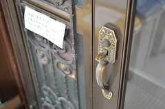 ドアハンドルの様子。(2012-01-13,周辺環境,ENTRANCE,1F)