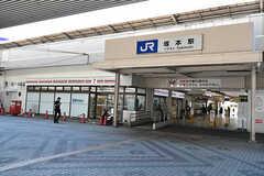 JR東海道本線・塚本駅前の様子。(2016-07-20,共用部,ENVIRONMENT,1F)