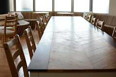 ダイニングテーブルの様子。(2015-05-18,共用部,LIVINGROOM,1F)