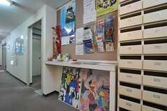廊下にはフリーペーパーが置いてあります。(2011-05-28,共用部,OTHER,1F)