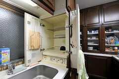 食器乾燥機の様子。(2010-11-26,共用部,KITCHEN,1F)