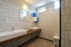 洗面台の様子。洗面台の対面がトイレです。(2017-06-06,共用部,WASHSTAND,2F)