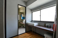 洗面台の様子。3Fはルーフバルコニー以外は女性専用です。(2017-06-06,共用部,WASHSTAND,3F)
