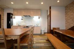 キッチンと一体です。(2014-12-10,共用部,LIVINGROOM,1F)