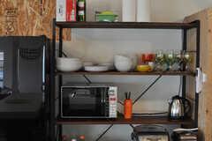 キッチン家電の様子。(2014-05-15,共用部,LIVINGROOM,4F)