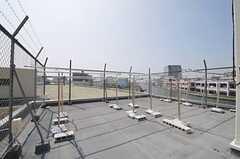 屋上の様子2。物干しが出来ます。(2013-09-12,共用部,OTHER,5F)