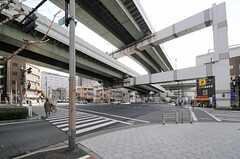各線・阿波座駅前の交差点の様子。(2013-02-05,共用部,ENVIRONMENT,1F)