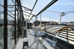 ベランダの様子。屋根付きです。(2020-07-01,共用部,OTHER,3F)