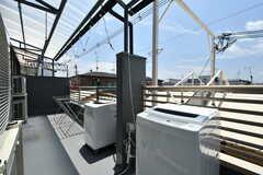 洗濯機が置かれています。(2020-07-01,共用部,LAUNDRY,3F)
