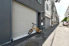 自転車置き場の様子。(2020-07-01,共用部,GARAGE,1F)