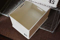 食材などを入れておけるボックスがひとりひとつ使えます。(2017-04-26,共用部,LIVINGROOM,3F)