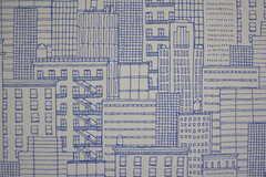 壁紙は町並み柄。(401号室)(2017-04-26,専有部,ROOM,4F)