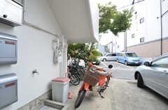 自転車置場の様子。(2015-02-02,共用部,GARAGE,1F)