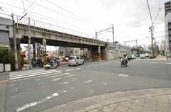 JR・桃谷駅からシェアハウスへ向かう道の様子。(2015-02-02,共用部,ENVIRONMENT,1F)