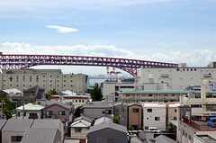 目の前には大阪港。(2013-08-23,共用部,OTHER,7F)