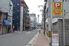 シェアハウスから堺筋線・恵美須町駅へ向かう道の様子。(2015-01-12,共用部,ENVIRONMENT,1F)