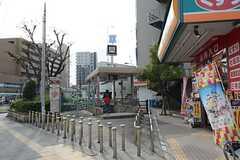 谷町線・関目高殿駅へ向かう道の様子。(2014-11-10,共用部,ENVIRONMENT,1F)