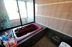 バスルームの様子。窓の外は庭風のベランダがあります。(2012-09-11,共用部,OTHER,10F)