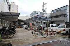 自転車置き場の様子。(2012-09-11,共用部,GARAGE,1F)