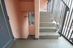 階段の様子。(2012-09-11,共用部,OTHER,10F)