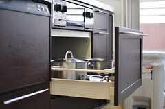 食器洗浄機の様子2。(2012-09-12,共用部,KITCHEN,5F)
