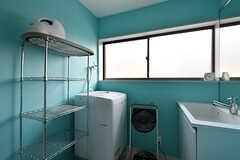 洗濯機の様子。(2017-08-29,共用部,LAUNDRY,3F)