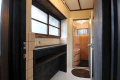 脱衣室の様子。(2012-03-24,共用部,BATH,1F)