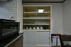 食器棚の様子。(2017-02-07,共用部,KITCHEN,1F)