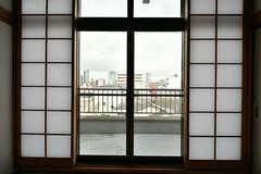 ベランダの様子。(409号室)(2017-02-07,専有部,ROOM,4F)