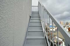 屋上へ続く階段の様子。(2017-02-07,共用部,OTHER,4F)