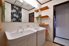 洗面台の様子。(2018-02-14,共用部,WASHSTAND,1F)