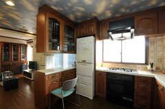 シェアハウスのキッチンの様子。(2010-11-26,共用部,KITCHEN,7F)