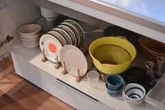 共用の食器類の様子。(2016-02-15,共用部,KITCHEN,1F)