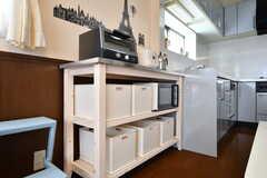 部屋ごとに食材をしまっておけるボックス。(2017-07-12,共用部,KITCHEN,2F)