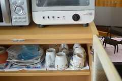 食器類の様子。(2012-07-15,共用部,KITCHEN,2F)