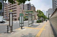 最寄りのバス停。(2014-06-30,共用部,ENVIRONMENT,1F)
