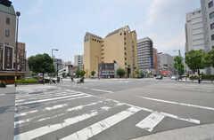 各線・大阪上本町駅からシェアハウスへ向かう道の様子2。(2014-06-30,共用部,ENVIRONMENT,1F)