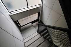 マンション共用部の階段。(2012-11-26,共用部,OTHER,4F)