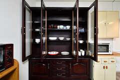 食器棚の様子。(2017-04-03,共用部,KITCHEN,1F)