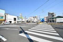 阪堺電軌阪堺線・綾ノ町駅前の様子。(2017-04-03,共用部,ENVIRONMENT,1F)